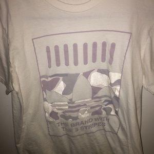 White Graphic Adidas tee shirt